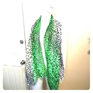 Accessories - Animal Print Ombre Scarf Sz OS